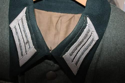 Heer M-36 transport captain's combat tunic Original?