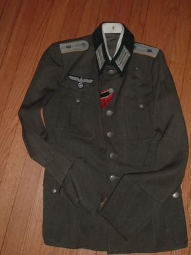 Army Signal Leutnant summer weight Tunic