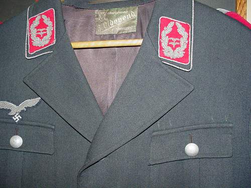 Luftwaffe Staff [carmine backed tabs and boards] rank Lt.Col.