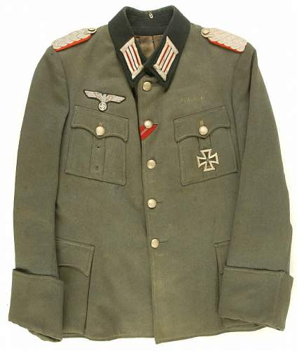 Heer Artillery Major Tunic