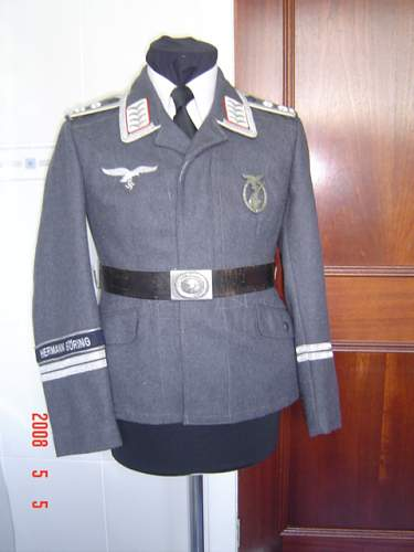 General Goering Wach Batallion tunic and cap