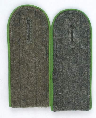 Panzergrenadier shoulderboards and Hermann Goering cufftitle