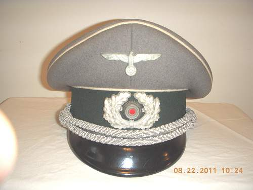 Click image for larger version.  Name:German INF Officers Cap 1.jpg Views:64 Size:248.9 KB ID:262776
