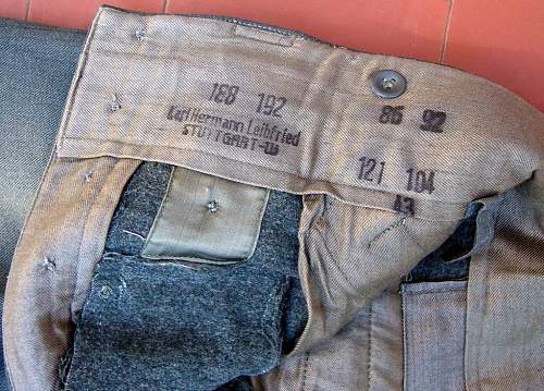WH-Issue M43 Trousers made of Italian cloth.