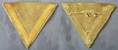 DAK Obergefreiter+ 6 years' service sleeve patch