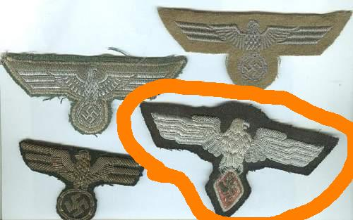 Can anyone ID these 4 Breast Eagles?