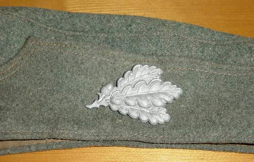 Click image for larger version.  Name:Heer M34 feldmutze left side with Jager cap badge..jpg Views:421 Size:257.4 KB ID:280201