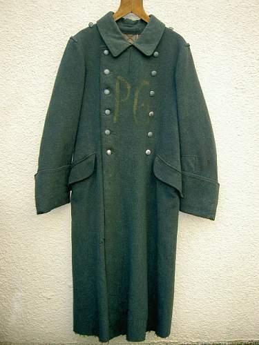 Heer prisoner of war greatcoat stenciled