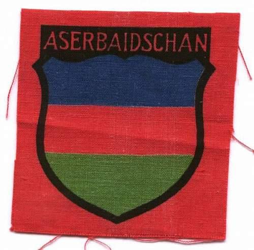 Real or fake armshield.( aserbaidschan)