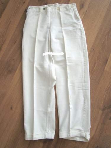 Kriegsmarine white tunic