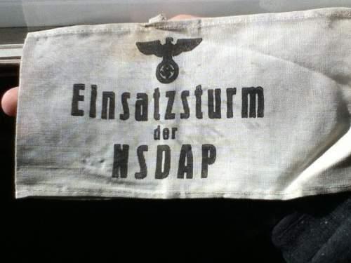 NSDAP Armband. Probably a repro.