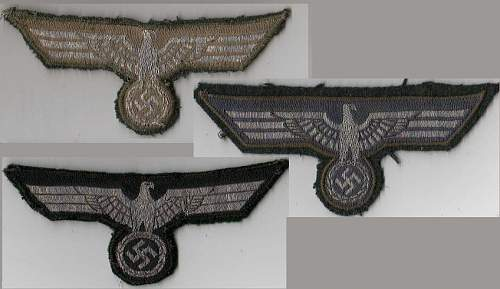 Unissued Bevo Flatwire officer's Breast eagle