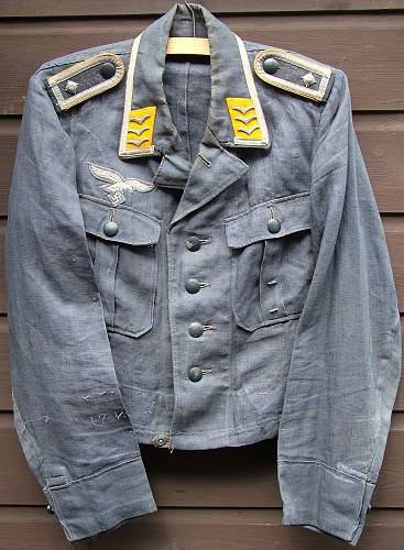 Luftwaffe Feldblau HBT Jacke , Modified