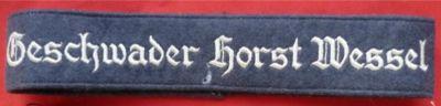 """Luftwaffe """"Geschwader Horst Wessel"""" cuff title"""