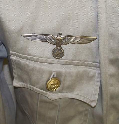 Kriegsmarine jumper for a senior torpedo mechanic