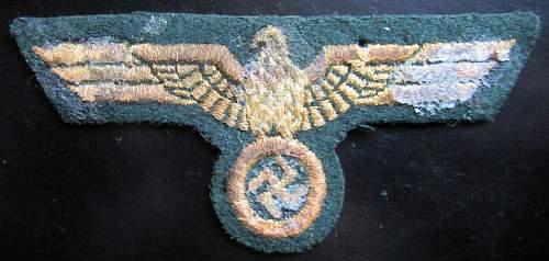 KM coastal artillery breast eagle