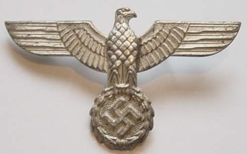 Click image for larger version.  Name:1st pattern Heer cap eagle..jpg Views:154 Size:193.9 KB ID:353024