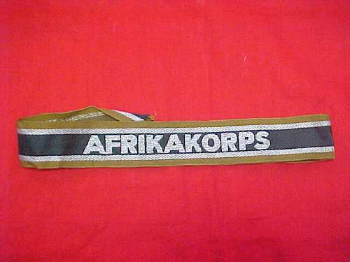 AFRIKAKORPS Cuff title...... real?