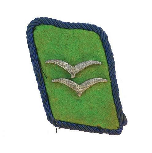 Luftwaffe Felddivision collar tabs, good or not?