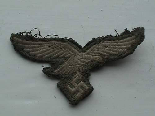 Early Luftwaffe Fallschirmjager jump smock eagle