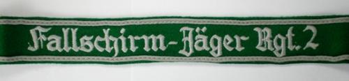 Thoughts on Fallschirm Jager 2nd Reg. Cuff Title.............