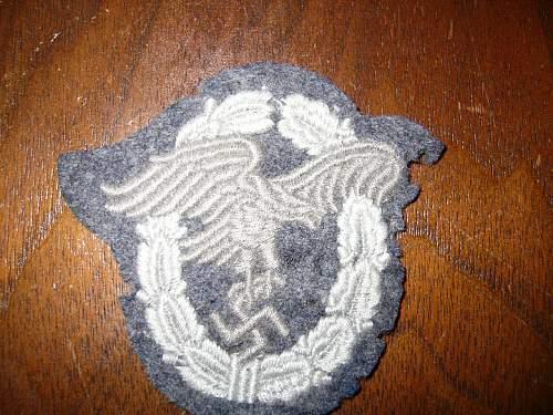 Click image for larger version.  Name:Luftwaffe Pilots observer patch 002.jpg Views:102 Size:197.1 KB ID:36158