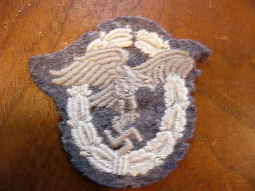 Click image for larger version.  Name:Luftwaffe Pilots observer patch 003.jpg Views:144 Size:120.9 KB ID:36159
