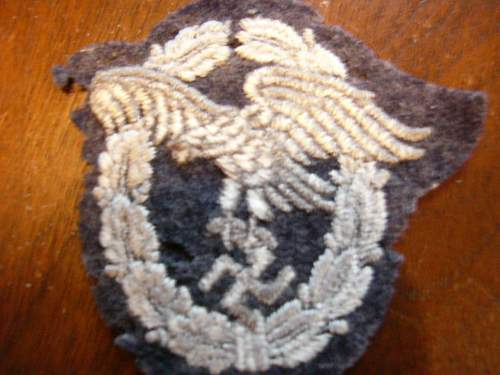 Click image for larger version.  Name:Luftwaffe Pilots observer patch 004.jpg Views:96 Size:100.0 KB ID:36160