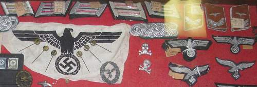 Grandfathers collection... patches with original tags?