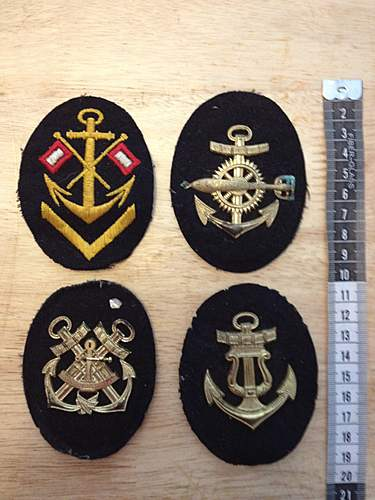Kriegsmarine Patch Identification