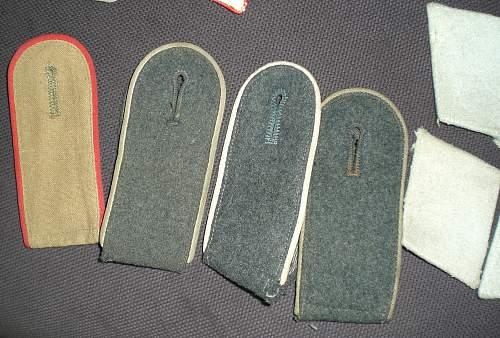 LW HG? Holster belt & Shoulder strap collar badges.