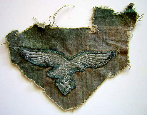 Cut piece from Luftwaffe splinter camo Smock