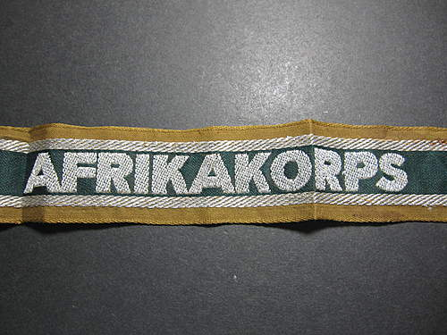 AFRIKAKORPS Cufftitle