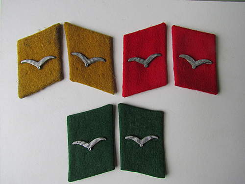 Luftwaffe Collar Patches Selection