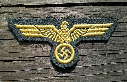 Coastal Artillery embroidered breast eagle