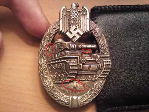 silver panzerabzeichen