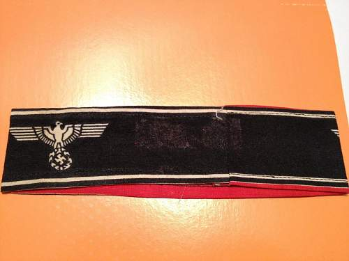 Real Deutscher Volkssturm Wehrmacht armband?