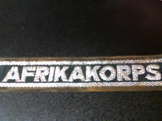Afrikakorps cuff title for discussion