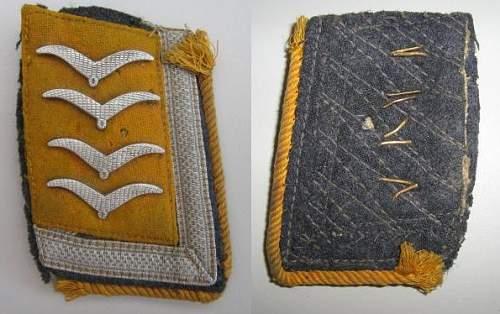 Luftwaffe Oberfeldwebel collar cut from tunic