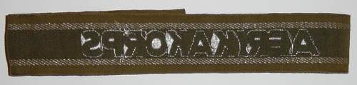 Click image for larger version.  Name:Afrikakorps cuff title. Reverse..JPG Views:864 Size:98.3 KB ID:4133