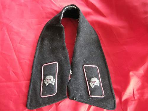 Panzer Collar wrap with skull tabs