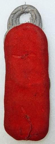 Infantry Officer shoulder boards