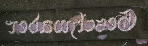 General Wever cuff title - purple coloring is odd