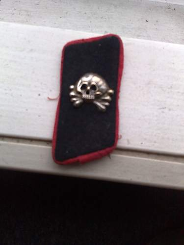 wehrmacht panzer collar tab - Is it a fake ?