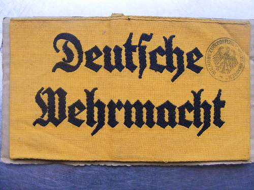 Wehrmacht Armband, Real or Fake??