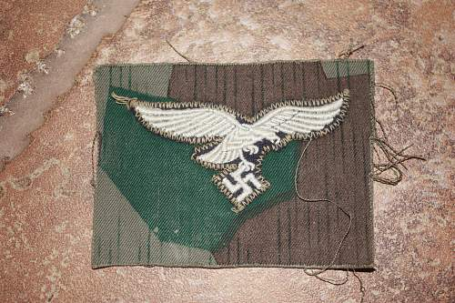 Luftwaffe Fallschirmjaeger Smock Eagle Patch Uniform Removed