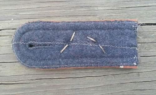 Luft Signals NCO sew on shoulder board