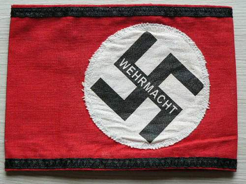 Wermacht armband Fake or not?