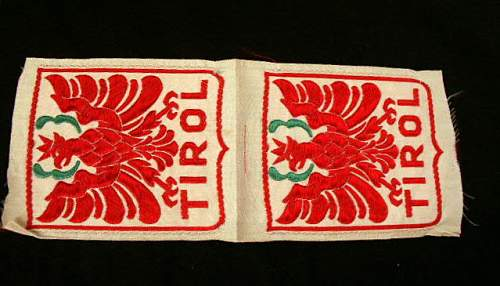 Tirol sleeve insignia??
