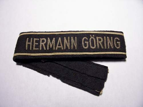 Hermann Goring Division cuff titles - Real or Repro?